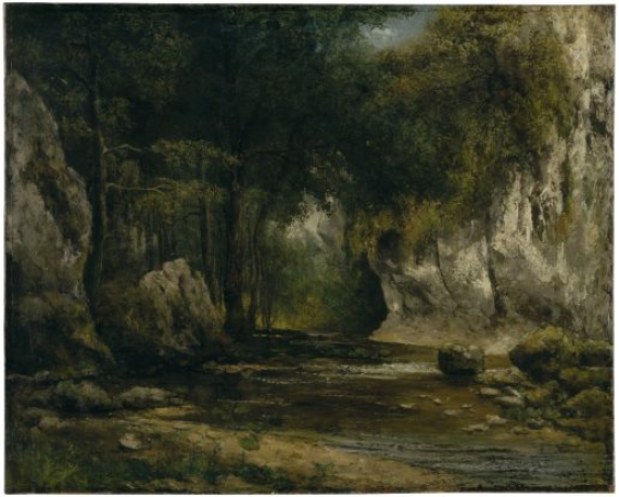 Gustave Courbet (Ornans 1819–1877 La Tour-de-Peilz), Forest Scene with Stream, after 1855, Oil on canvas, 65 x 80 cm, Oskar Reinhart Collection 'Am Römerholz', Winterthur
